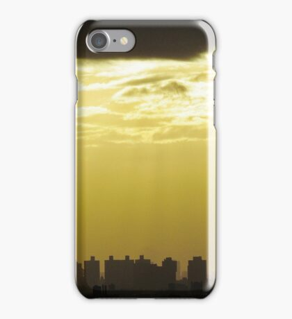 Cloudy Sunset in New York City  iPhone Case/Skin