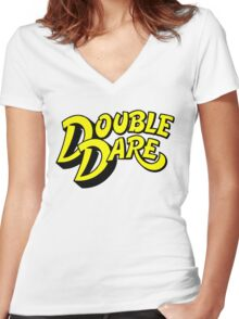 Double Dare Women's Fitted V-Neck T-Shirt