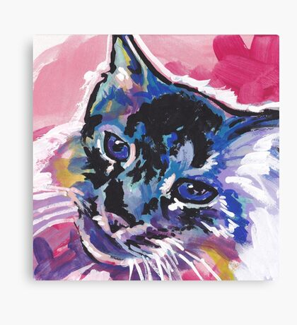 Tabby Cat Bright colorful pop kitty art Canvas Print