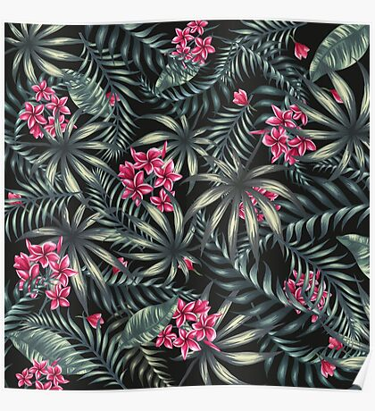 Tropical Leave pattern 4 Poster