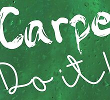 Carpe Do it! (green) by poppyflower