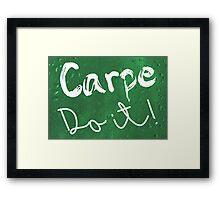 Carpe Do it! (green) Framed Print