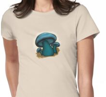 Mushroom Illustrated Differently Womens Fitted T-Shirt