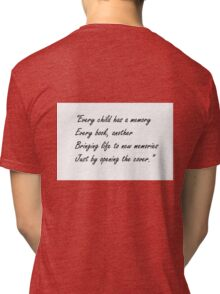 Inspirational Quote2 Tri-blend T-Shirt