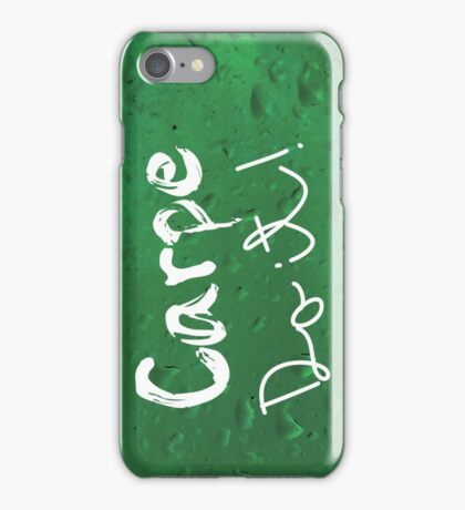 Carpe Do it! (green) iPhone Case/Skin