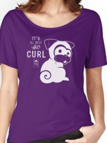 It's All About the Curl Tee (Vintage Look) Women's Relaxed Fit T-Shirt