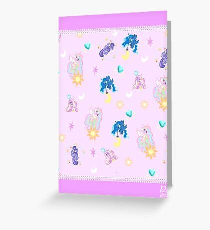 Pony Princesses Greeting Card