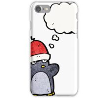 cartoon funny christmas penguin iPhone Case/Skin