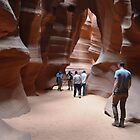 Antilope Canyon with hundsome men by loiteke