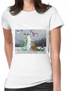 Snowman Womens Fitted T-Shirt
