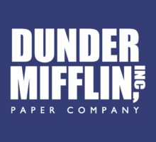 Dunder Mifflin Paper Company Title (White) - The Office by DovaGuy