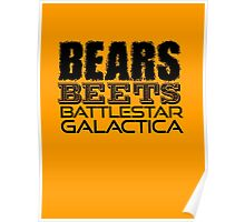 Bears, Beets, Battlestar Galactica - The Office Poster