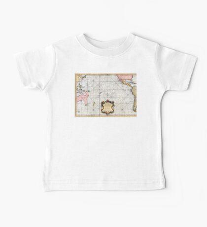 1776 Bellin, Jacques Nicolas-Carte réduite des mers comprises entre l'Asie et l'Amérique, apelées par les navigateurs Mer du Sud ou Mer Pacifique Baby Tee