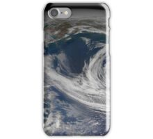 Satellite view of the southern Alaska coast and the Gulf of Alaska. iPhone Case/Skin
