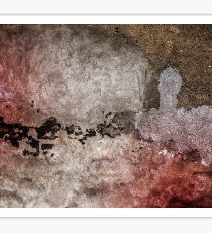 Grunge background with colorful damaged wall. Colors: white, brown, black and brown Sticker