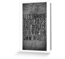 Rise Against - Swing Life Away - Unwrite Greeting Card