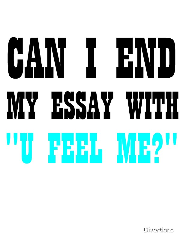 How should i end my essay?