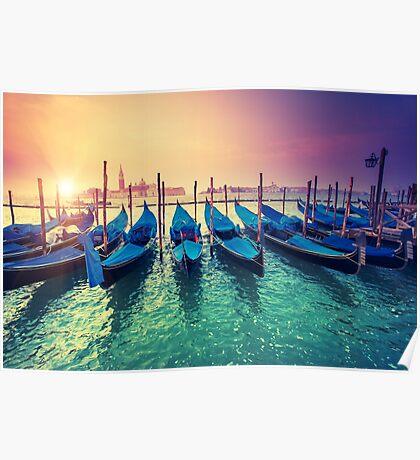 Venice, gondolas Poster