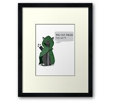 Arrow, the vigilante cat Framed Print