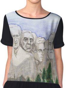 Mount Rushmore Philosphers Chiffon Top
