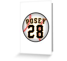 Buster Posey Greeting Card
