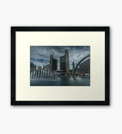 toronto city hall Framed Print