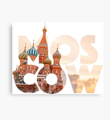 Russia Moscow Typography Canvas Print