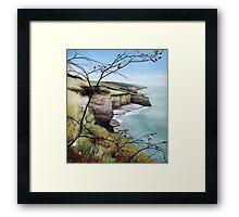 Towards Llantwit Major - South Wales coastal view Framed Print