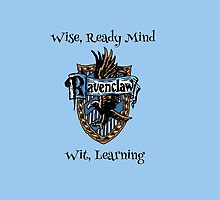 Ravenclaw Crest, Harry Potter, Wise, Ready Mind, geek by NerdGirlTees