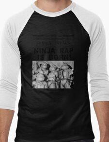Ninja Rap Is Born Men's Baseball ¾ T-Shirt