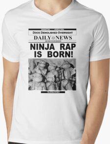 Ninja Rap Is Born Mens V-Neck T-Shirt