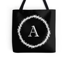 Monochrome Monogram A Tote Bag