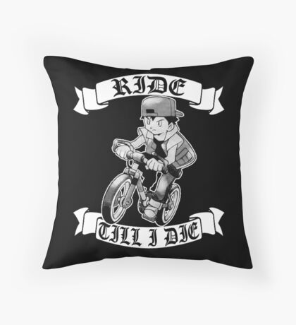 Pokemon Ride Till I Die  Throw Pillow