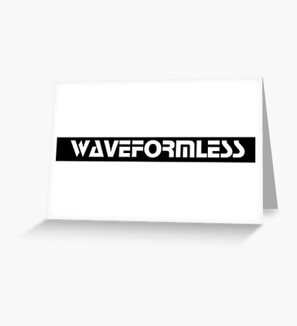 Waveformless Logo, Sequential Font Greeting Card
