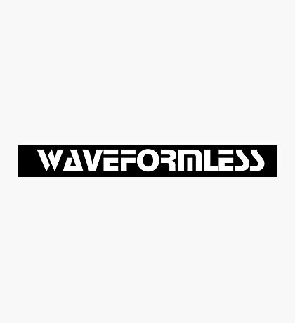 Waveformless Logo, Sequential Font Photographic Print