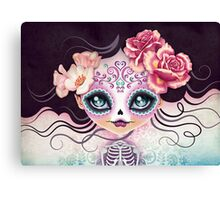 Camila Huesitos - Sugar Skull Canvas Print
