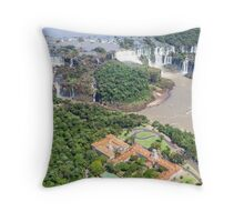 Iguazu Falls (from helicopter) - Brazil Throw Pillow