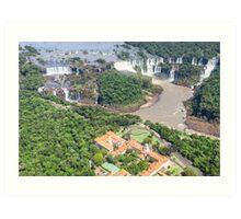 Iguazu Falls (from helicopter) - Brazil Art Print