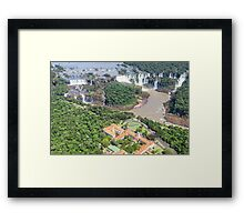 Iguazu Falls (from helicopter) - Brazil Framed Print