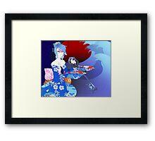 Kabuki Master Aqua Print Framed Print