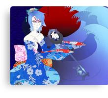 Kabuki Master Aqua Print Canvas Print