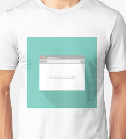 Browser flat icon Unisex T-Shirt