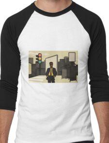Business in the city Men's Baseball ¾ T-Shirt