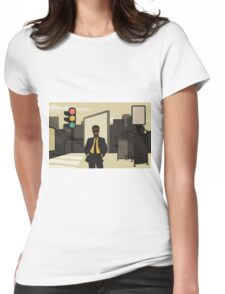 Business in the city Womens Fitted T-Shirt