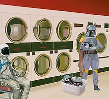 In the Laundromat with Boba Fett by scottlistfield