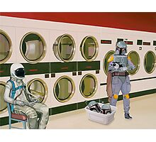 In the Laundromat with Boba Fett Photographic Print