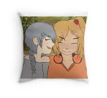 """Girl's Love Is Best"" Throw Pillow"