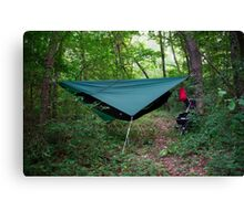Hammock Campsite in the Mountains Canvas Print