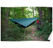 Hammock Campsite in the Mountains Poster