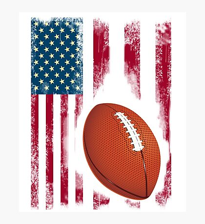 Football sport flagge usa amerika stolz team nba touchdown Photographic Print